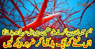 جسم میں خون پیدا کرنے والی مشین، چہرہ لال سرخ ہو جائے گا