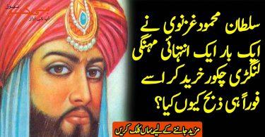 سلطان محمودغزنوی نےایک بارایک انتہائی مہنگی لنگڑی چکورخرید کر اسے فوراً ہی ذبح کیوں کیا؟