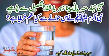 صبح نہار منہ پانی پینا زہر یا شفا؟ نبی اکرم ﷺ نےاس حوالے سے کیا حکم فرمایا ہے؟ تفصیل سے پڑھیے